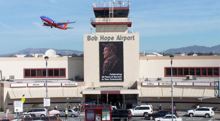 front view of Burbank Airport, Los Angeles, CA