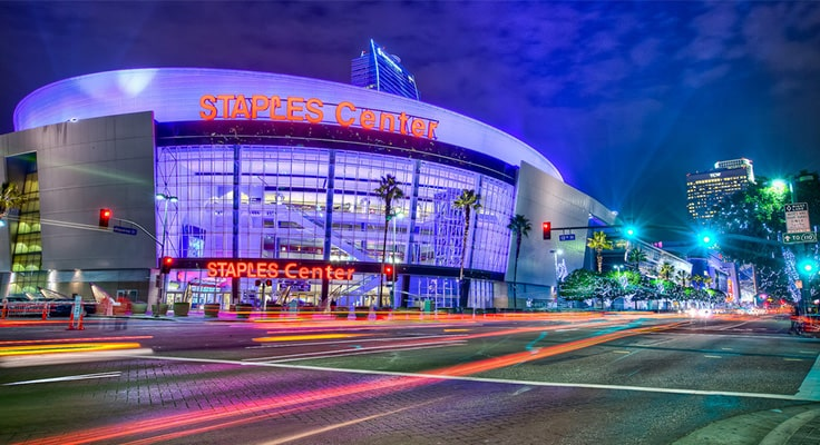 image of Staples center in los angeles for limo service page