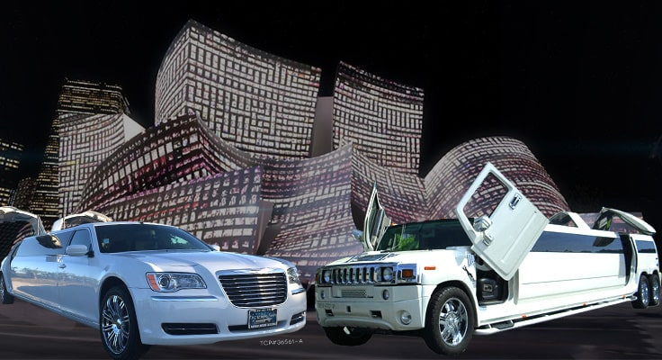 image of limo in front of Concert Hall in Downtown Los Angeles