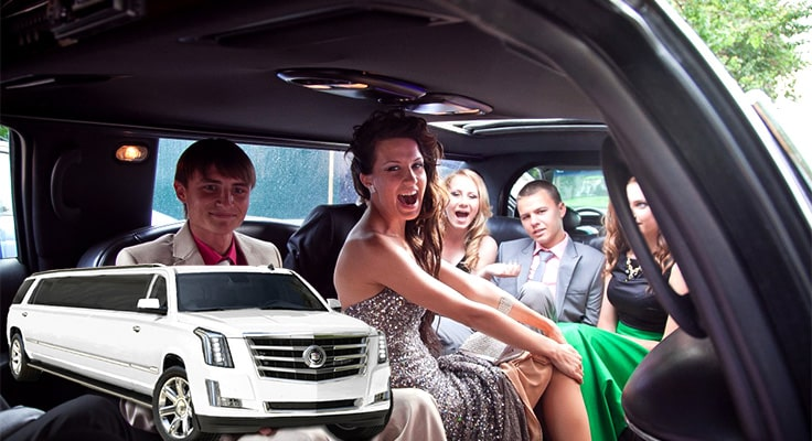 image collage to showcase los angeles prom limousine service