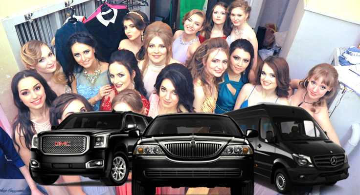 image collage for los angeles prom limo services