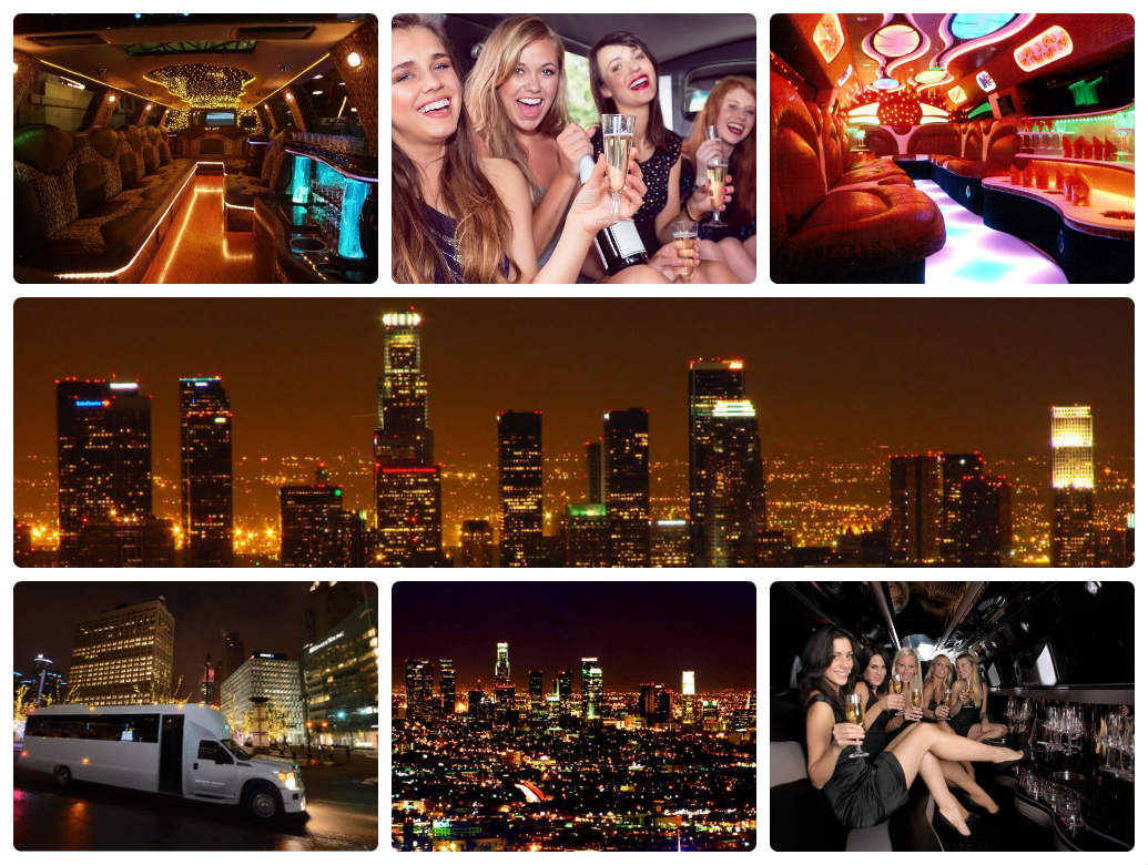 image is showing collage about Los Angeles City at night time