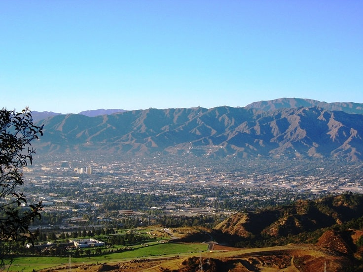 image is showing Burbank city view