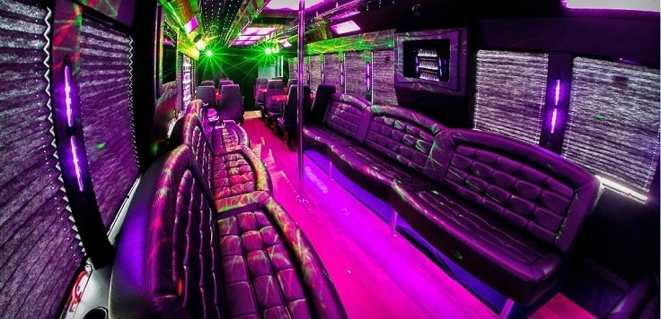 image is showing a party bus in Sacramento