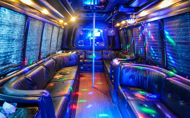 image is showing a party bus las vegas