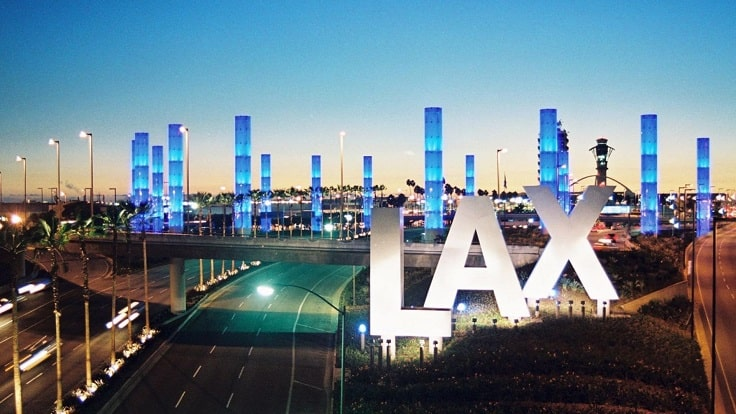 image is showing LAX airport
