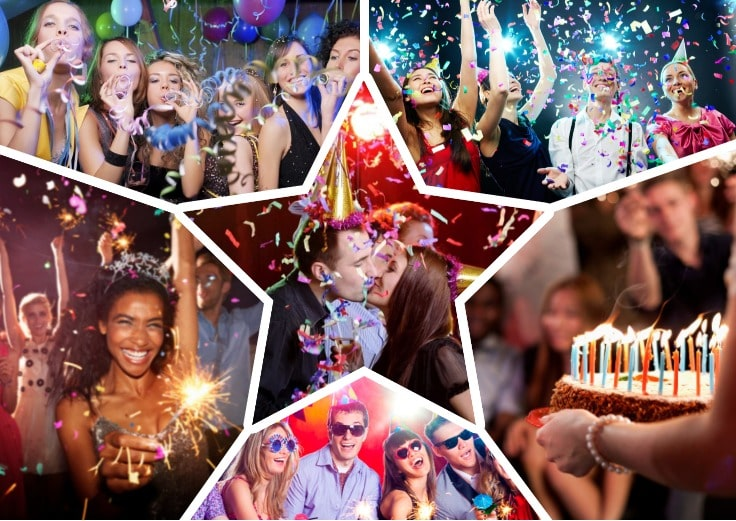 image is showing collage about Birthday parties