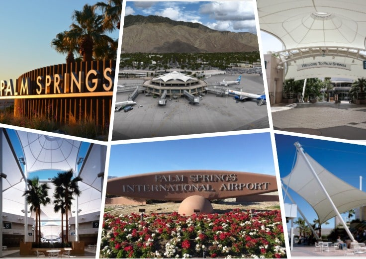 image is showing photos of palm springs airport