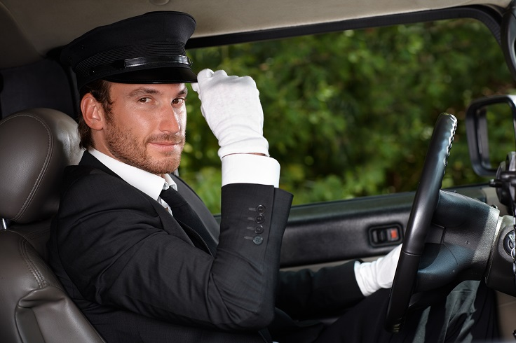 image is showing personal car chauffeur in uniform