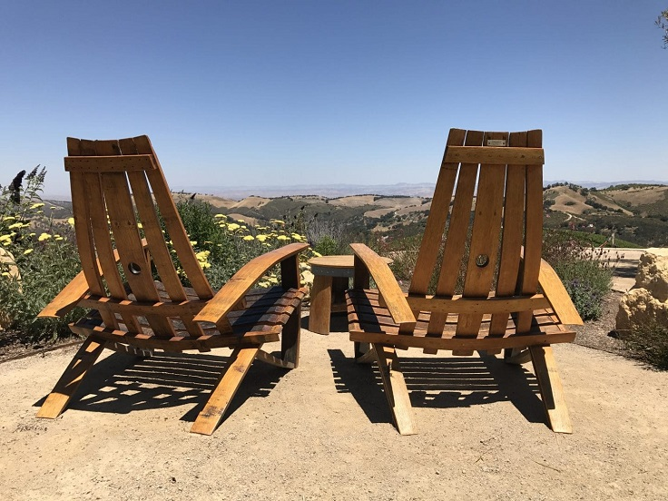 image is showing two chairs in Paso Robles, California