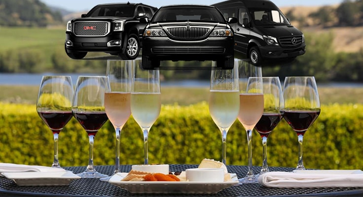 image is showing glasses of wine with limousines