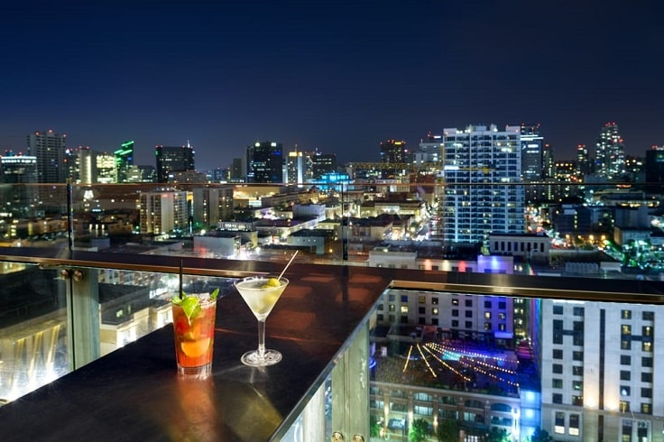 image is showing San Diego City at night time