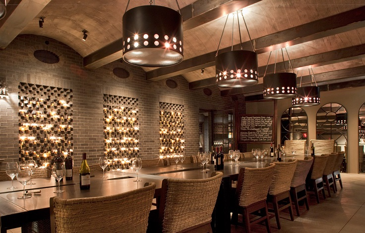image is showing napa valley  wine tasting room during limo tour