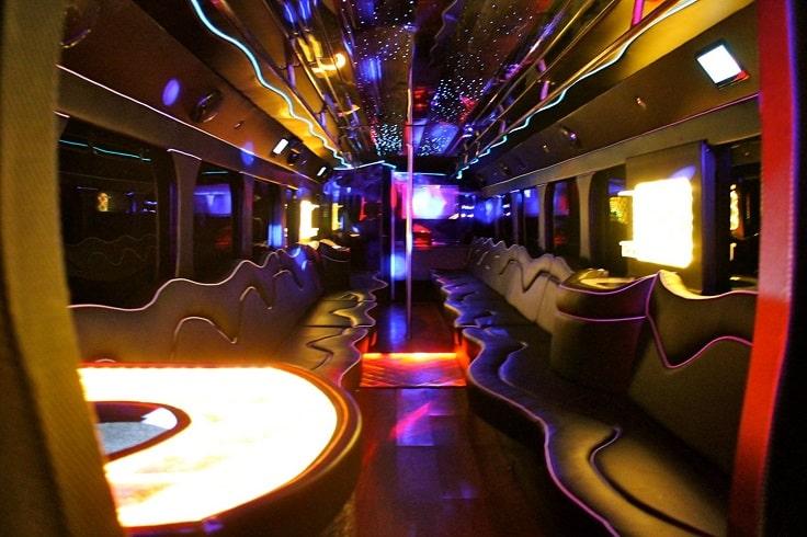 image is showing a party bus las vegas