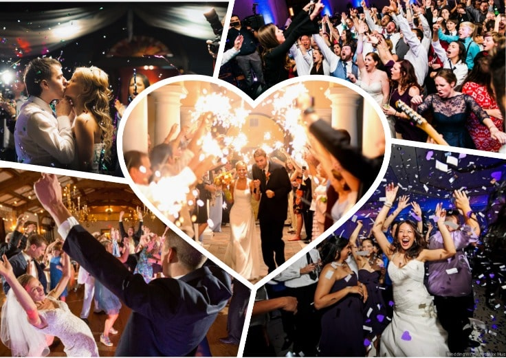 image is showing collage about wedding parties