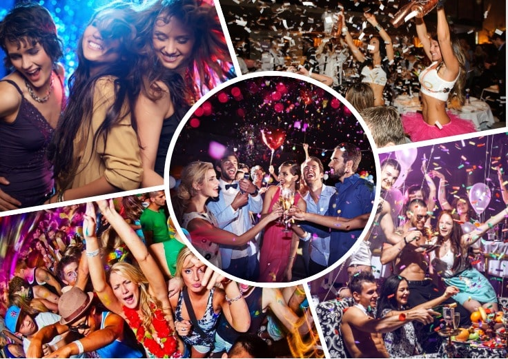 image is showing collage about Get-togethers parties
