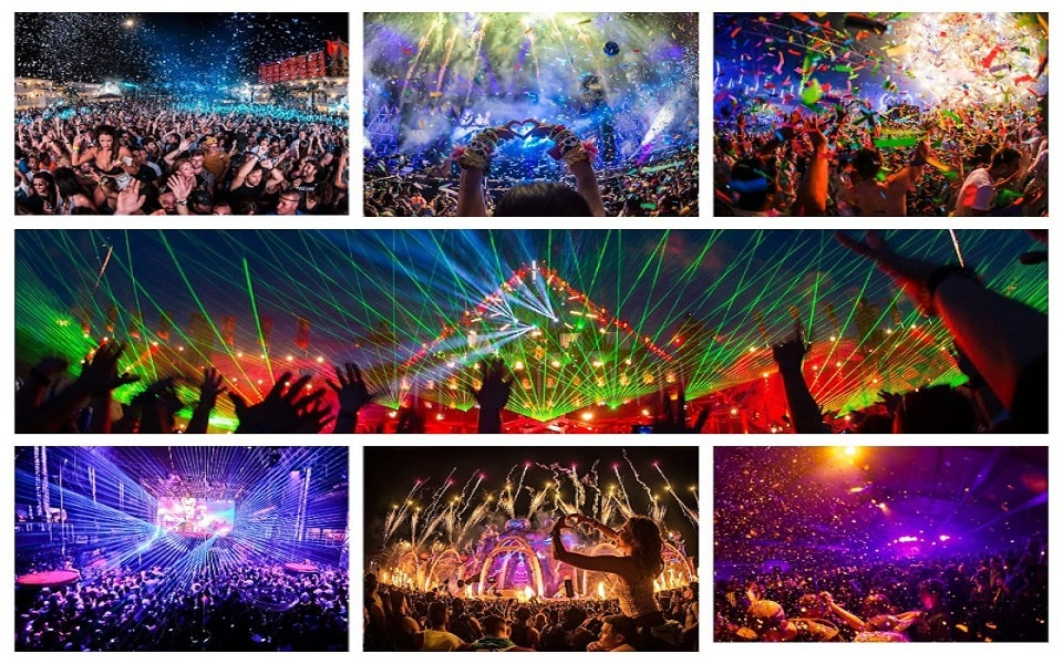 image is showing collage about concerts