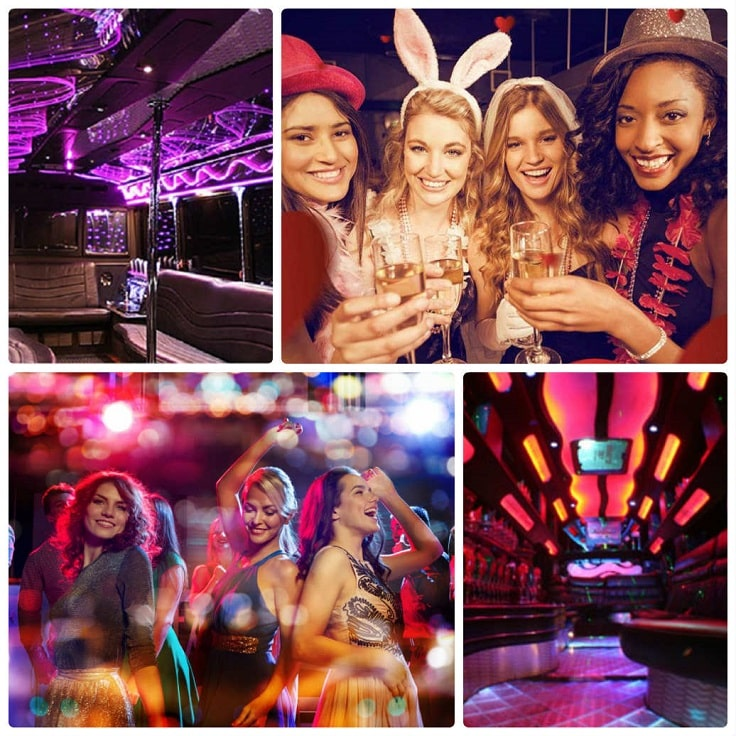 image is showing a collage about parties in San Francisco City