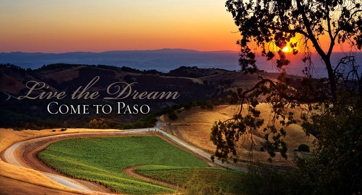 image is showing valley of vineyards  in Paso Robles, California