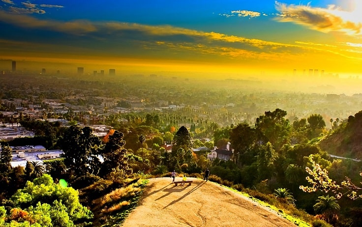 image is showing a Runyon Canyon view