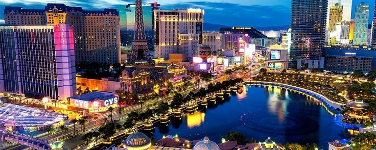 image is showing las vegas night view