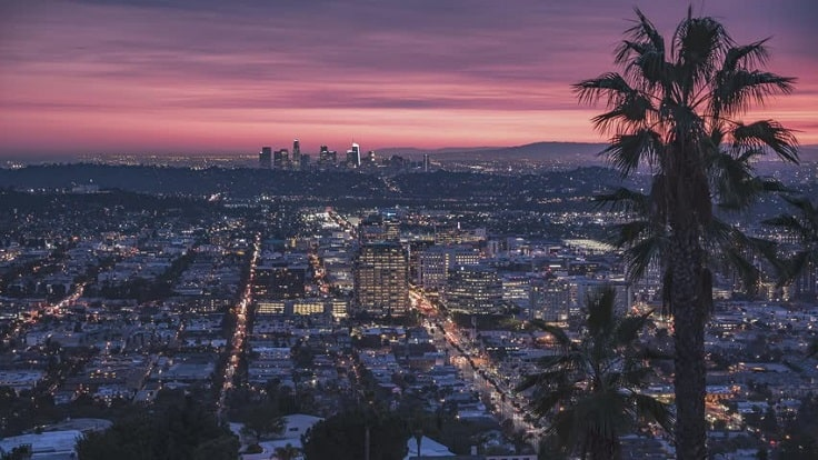 image is showing a Glendale sunset view