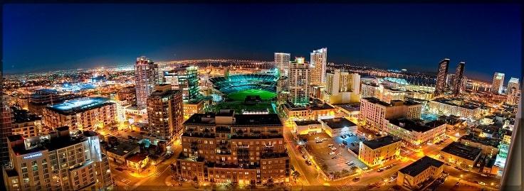 image is showing san jose night view