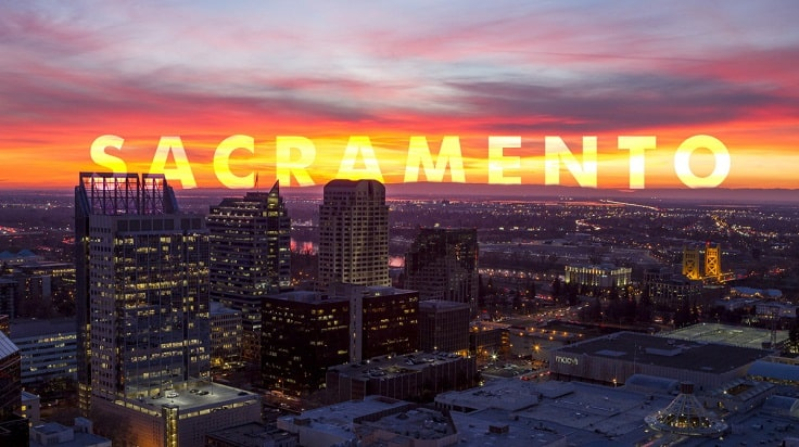 image is showing sacramento night view