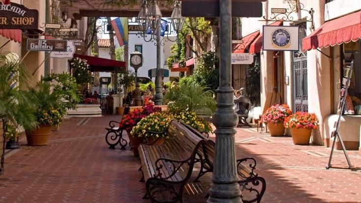 image is showing santa barbara downtown