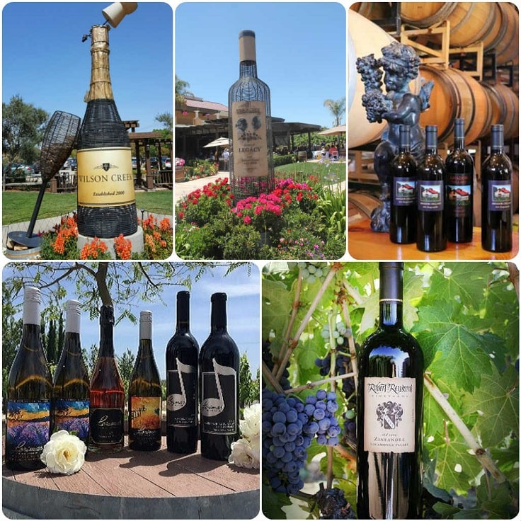 image is showing collage about temecula wines