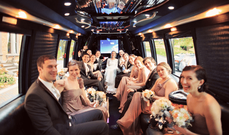 shuttle buses for your wedding