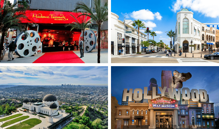 tour hollywood by charter bus